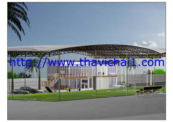 Design Futsul field 2 field and Clubhouse have area 2,240 m2